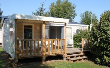 Mobil home 4 à 5 personnes avec terrasse couverte